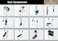 Gym Equipaments 3D Model