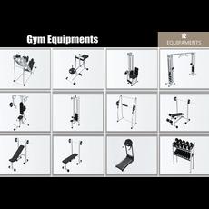 Gym Equipaments 3D Model