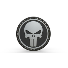 Punisher logo 3D Model