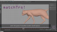 matchTRS (Trans Rot Scale) 0.0.8 for Maya (maya script)