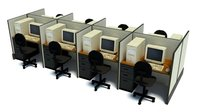 Office Computers 3D Model