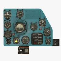 Mi-8MT Mi-17MT Right Panels Board English 3D Model