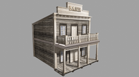 Old Western Bank - interior 3D Model