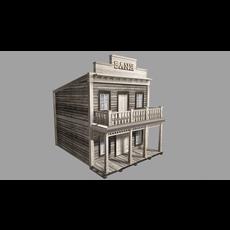 Old Western Bank - interior 3D Model