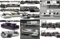 sofas poliform 6 models 3D Model