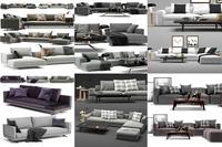 sofas poliform 6 models 3D Model