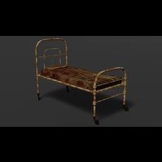 Terror old hospital bed 3D Model