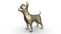 Chihuahua figure low poly 3D Model