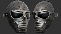 Black Ballistic Mask PBR 3D Model