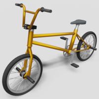 BMX Bike - Orange 3D Model