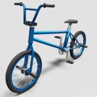 BMX Bike - Blue 3D Model