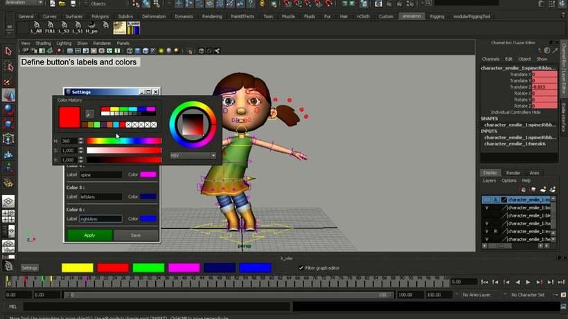 ColorKey PySide2 for Maya