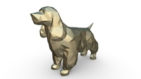 Cocker Spaniel figure 3D Model