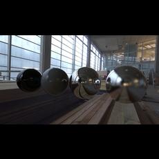 HDRI interior, 360° 32 bits, Grande Halle