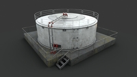 Oil / Gaz / Water tank 3D Model