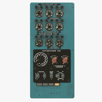 Mi-8MT Mi-17MT Power Panels Board Russian 3D Model