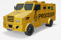 Bank Armored Car 3D Model