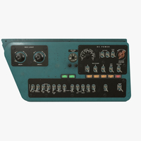 Mi-8MT Mi-17MT Right Side Console English 3D Model