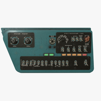 Mi-8MT Mi-17MT Right Side Console Russian 3D Model