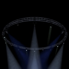 Circle Square Truss1000cm-Stage Lights 3D Model