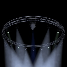 Circle Square Truss 700cm-Stage Lights 3D Model