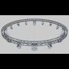 17 20 24 92 41 04 circlesquaretruss700cm stagelights 4w 4