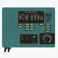 Mi-8MT Mi-17MT Left Overhead Board English 3D Model
