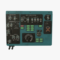 Overhead Panels Board of Helicopter mi-8MT 3D Model