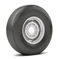 VINTAGE WHEEL AND TIRE 11 3D Model