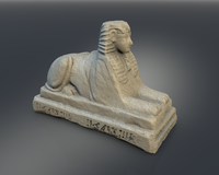Egyptian Pharaoh Sphinx 3D Model