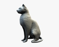 Bastet of stone 3D Model