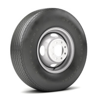 VINTAGE WHEEL AND TIRE 10 3D Model