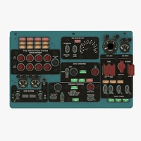 Mi-8MT Mi-17MT Central Overhead Board English 3D Model