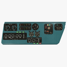 Mi-8MT Mi-17MT Left Side Console English 3D Model