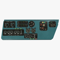 Mi-8MT Mi-17MT Left Side Console Russian 3D Model