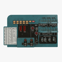 Mi-8MT Mi-17MT Left Circuit Console English 3D Model