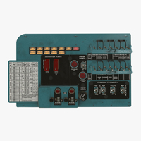 Mi-8MT Mi-17MT Left Circuit Console Russian 3D Model