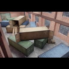 FPS Map - Warehouse 3D Model