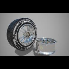 Tire and Rim 3D Model