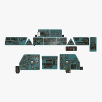 Mi-8MT Mi-17MT Panel Boards English 3D Model