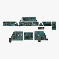 Mi-8MT Mi-17MT Panel Boards Russian 3D Model