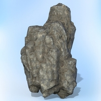 Game Ready Realistic Rock 01 3D Model