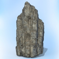 Game Ready Realistic Rock 03 3D Model