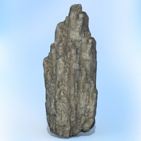 Game Ready Realistic Rock 05 3D Model