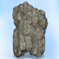 Game Ready Realistic Rock 08 3D Model