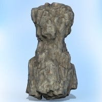 Game Ready Realistic Rock 11 3D Model