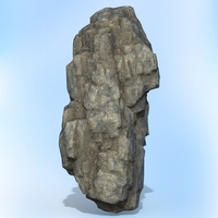 Game Ready Realistic Rock 12 3D Model