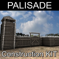 Palisade construction kit 3D Model