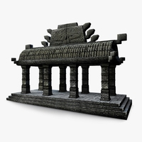 Aztec small temple detailed 3D Model