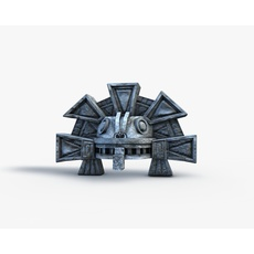 Aztec had serpent detailed 3D Model